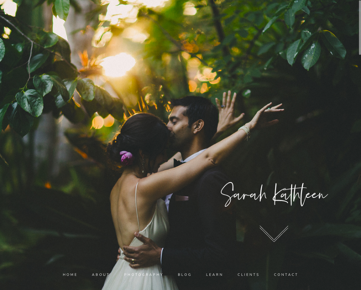 San Luis Obispo Website Designers Austyn + Brian design a dark and moody wedding photography website for Sarah Kathleen Photography