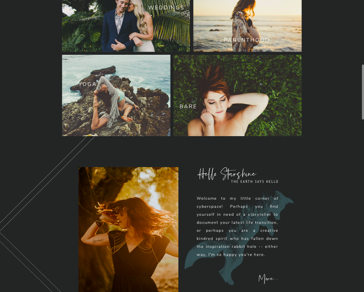 San Luis Obispo Brand Designers Austyn + Brian design a dark and moody wedding photography website for Sarah Kathleen Photography